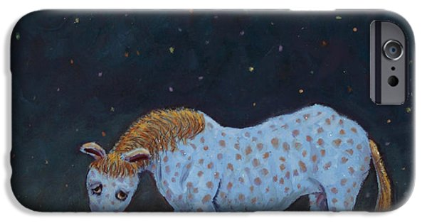 Horse iPhone Cases - Out to Pasture iPhone Case by James W Johnson