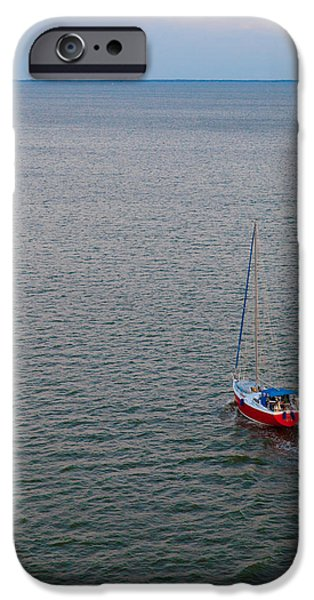 Sailboat Ocean iPhone Cases - Out to Sea iPhone Case by Chad Dutson