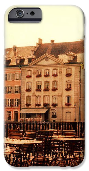 Outdoor Cafe in Lucerne Switzerland  iPhone Case by Susanne Van Hulst