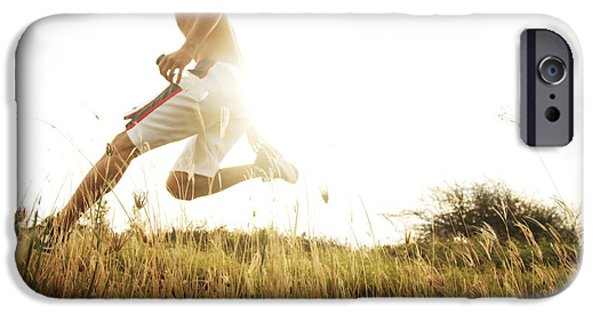 Athlete Photographs iPhone Cases - Outdoor Jogging II iPhone Case by Brandon Tabiolo - Printscapes