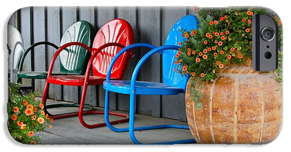 Lawn Chair iPhone Cases - Outdoor Living iPhone Case by Karon Melillo DeVega