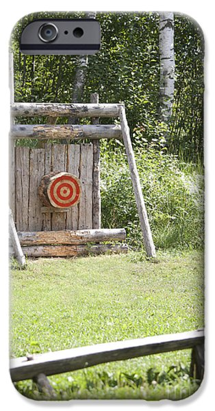 Outdoor Wooden Bulls-eye iPhone Case by Jaak Nilson