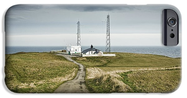 North Sea iPhone Cases - Outpost on Sea Cliff iPhone Case by Jon Boyes