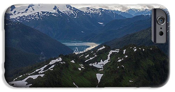 Norway iPhone Cases - Over Alaska iPhone Case by Mike Reid
