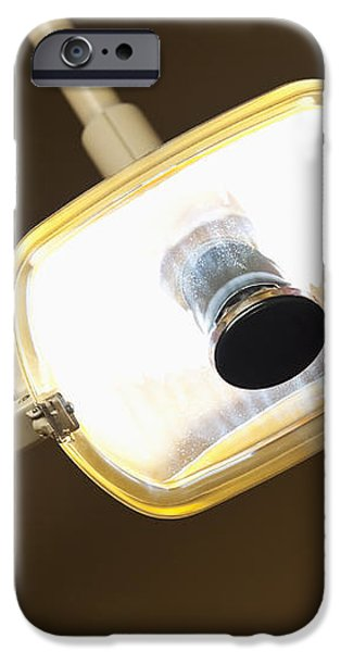 Overhead Dentist Lamp iPhone Case by Jetta Productions, Inc