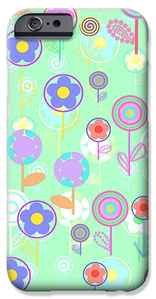 Louisa iPhone Cases - Overlayer Flowers  iPhone Case by Louisa Knight