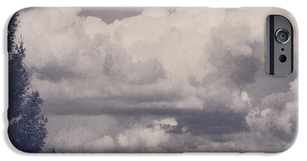 Textured Landscape iPhone Cases - Overwhelmed iPhone Case by Laurie Search