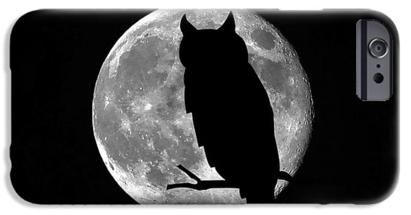 Moonscape iPhone Cases - Owl Moon iPhone Case by Al Powell Photography USA