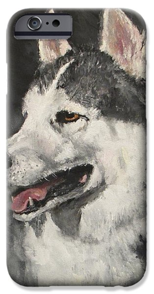Jack Skinner Paintings iPhone Cases - Ozzie iPhone Case by Jack Skinner
