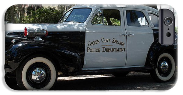 Police Cruiser iPhone Cases - P D Cruiser iPhone Case by Bob Johnson