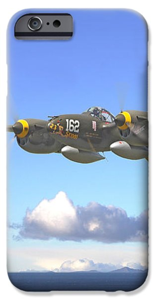 P38 - Long Way Home iPhone Case by Pat Speirs