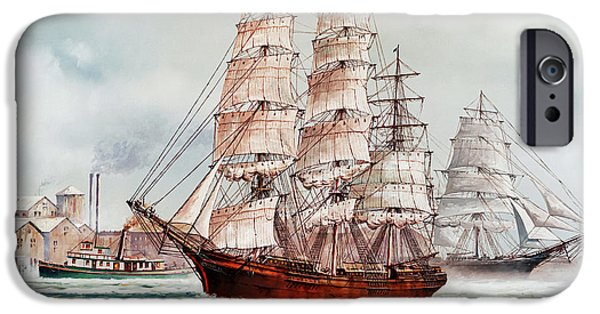 Tall Ship iPhone Cases - Pacific Fleet iPhone Case by James Williamson