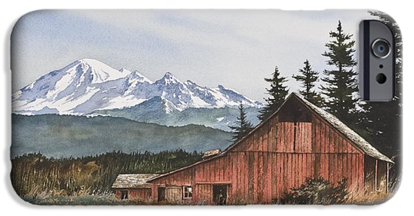 Landscape Greeting Cards iPhone Cases - Pacific Northwest Landscape iPhone Case by James Williamson