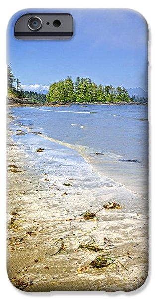 Seaweed iPhone Cases - Pacific ocean coast on Vancouver Island iPhone Case by Elena Elisseeva
