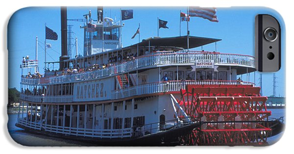 Flag iPhone Cases - Paddlewheel on the Mississippi iPhone Case by Carl Purcell