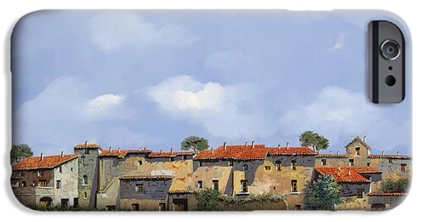 Roof iPhone Cases - Paesaggio Aperto iPhone Case by Guido Borelli