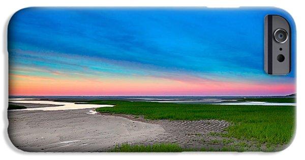 Tidal Creek iPhone Cases - Paines Creek Sunset Cape Cod iPhone Case by Matt Suess