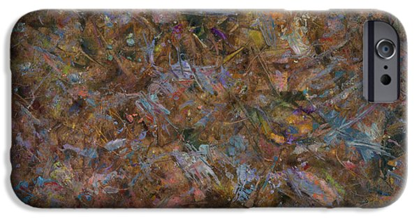 Abstract Expressionist Paintings iPhone Cases - Paint number 18 iPhone Case by James W Johnson