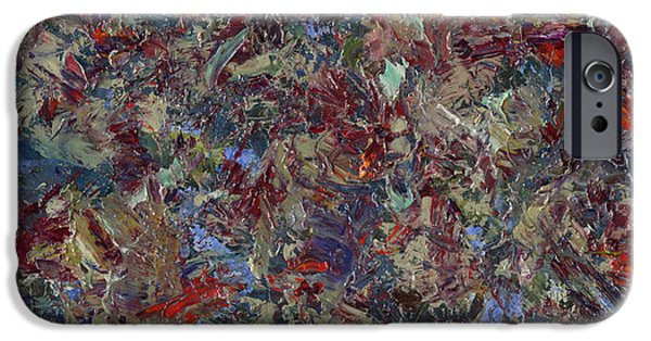 Texture iPhone Cases - Paint number 21 iPhone Case by James W Johnson