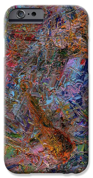 Colorful Abstract Paintings iPhone Cases - Paint Number 26 iPhone Case by James W Johnson