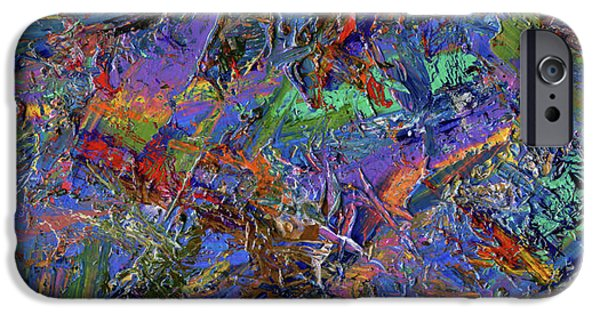 Texture iPhone Cases - Paint number 28 iPhone Case by James W Johnson