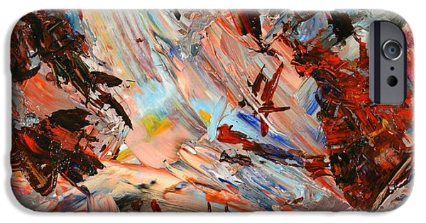 Abstract Expressionism Paintings iPhone Cases - Paint number 36 iPhone Case by James W Johnson