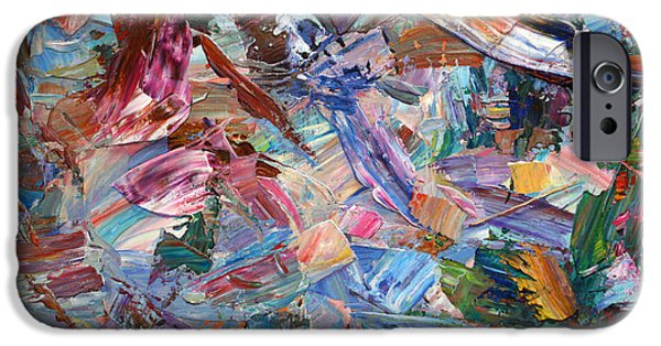 Dynamism iPhone Cases - Paint number 42-b iPhone Case by James W Johnson