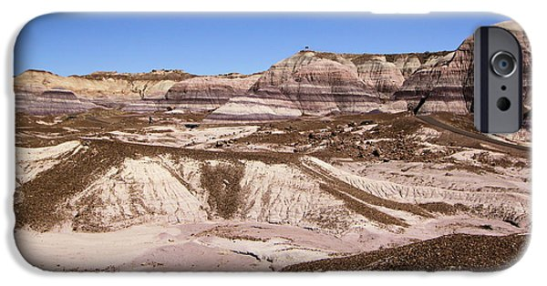 Petrified Forest Arizona iPhone Cases - Painted Desert Landscape iPhone Case by Adam Jewell