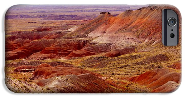 Paint Digital Art iPhone Cases - Painted Desert iPhone Case by Mike McGlothlen