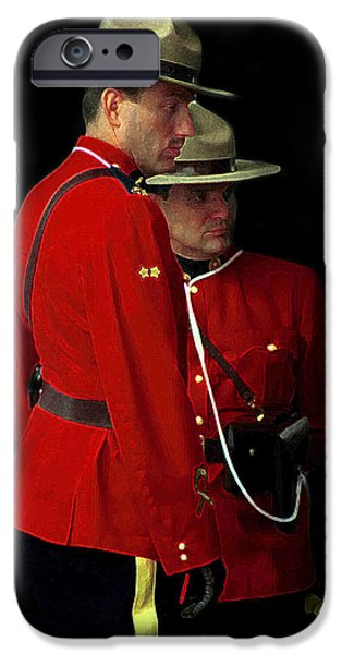 Police iPhone Cases - Painted Mounties iPhone Case by Andrew Fare