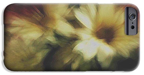Floral Digital Art Digital Art iPhone Cases - Painting Flowers iPhone Case by Linda Sannuti