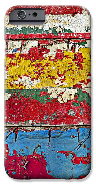 Ruin iPhone Cases - Painting peeling wall iPhone Case by Garry Gay