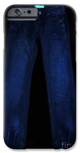 Pair of Jeans 1 - Painterly iPhone Case by Wingsdomain Art and Photography