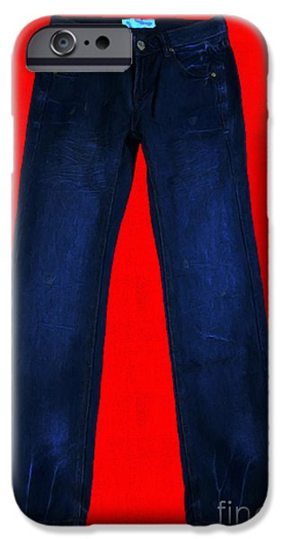 Pair of Jeans 2 - Painterly iPhone Case by Wingsdomain Art and Photography