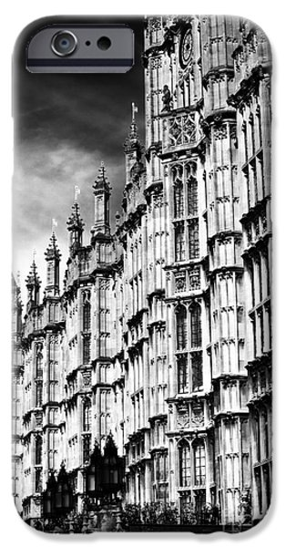 Westminster Palace iPhone Cases - Palace Lines iPhone Case by John Rizzuto