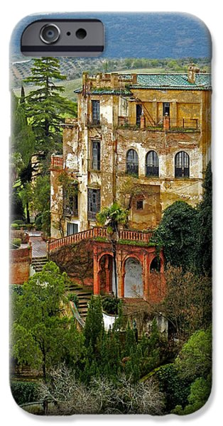 Spanien iPhone Cases - Palace of the Arabian King - Ronda iPhone Case by Juergen Weiss