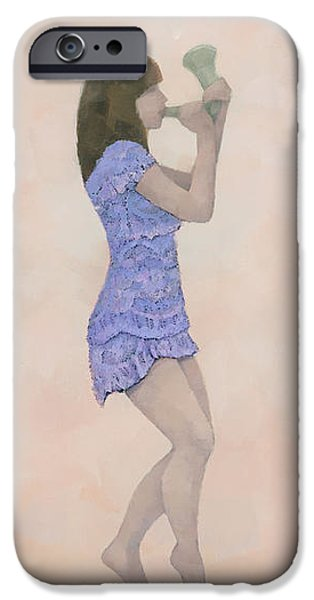 Texture Tapestries - Textiles iPhone Cases - Palantines Herald iPhone Case by Steve Mitchell