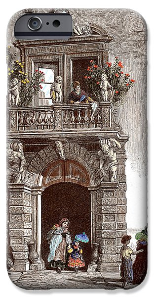 Nineteenth Digital iPhone Cases - Palazzo Sardagna Trento iPhone Case by Raffaella Lunelli