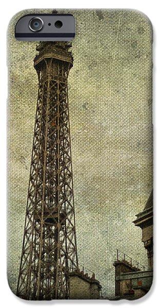 Pale Paris iPhone Case by Nomad Art And  Design
