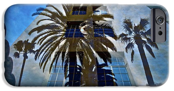 The View Mixed Media iPhone Cases - Palm Mural iPhone Case by Gwyn Newcombe