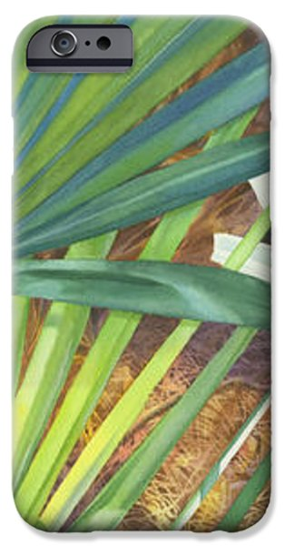 Palmettos and Stellars Blue iPhone Case by Marguerite Chadwick-Juner