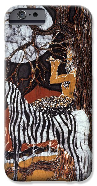 Pan Calls the Moon from Zebra iPhone Case by Carol Law Conklin