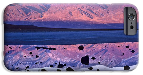 Mountains iPhone Cases - Panamint Range Reflected In Standing iPhone Case by Tim Fitzharris
