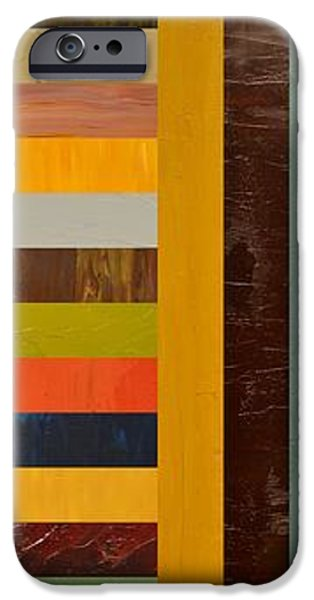 Panel Abstract - Digital Compilation iPhone Case by Michelle Calkins