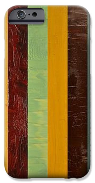 Panel Abstract lll  iPhone Case by Michelle Calkins