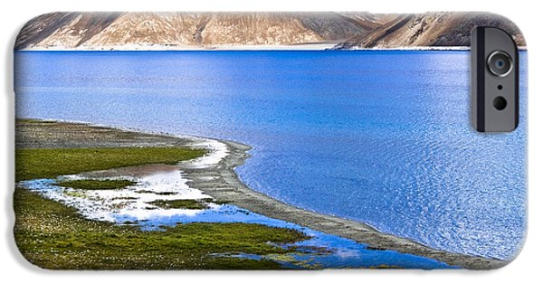 Lakescape iPhone Cases - Pangong Tso iPhone Case by Hitendra SINKAR