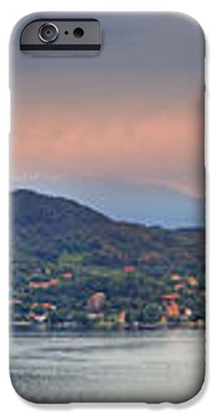 Panorama Lake Maggiore iPhone Case by Joana Kruse