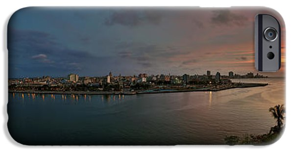 Cuba iPhone Cases - Panoramic view of Havana from La Cabana. Cuba iPhone Case by Juan Carlos Ferro Duque