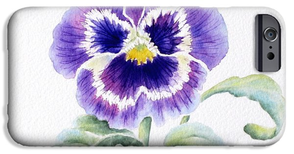 Pansy iPhone Cases - Pansy iPhone Case by Deborah Ronglien