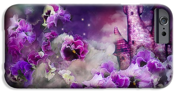 Pansy iPhone Cases - Pansy Fantasy iPhone Case by Carol Cavalaris
